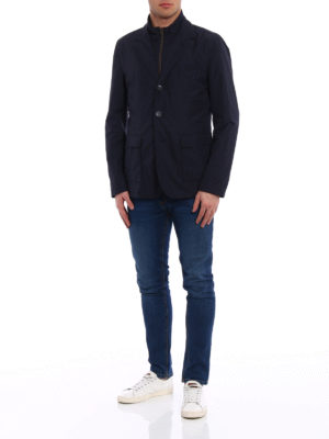 Herno: casual jackets online - Double front blue blazer jacket