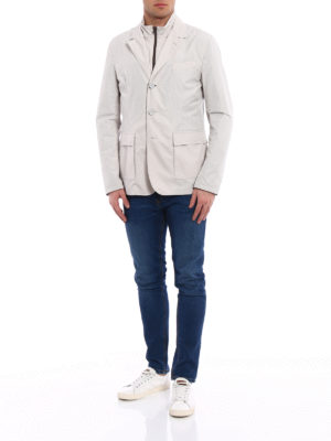 Herno: casual jackets online - Double front techno blazer jacket