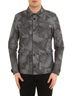 Herno: casual jackets online - Leaf print canvas jacket