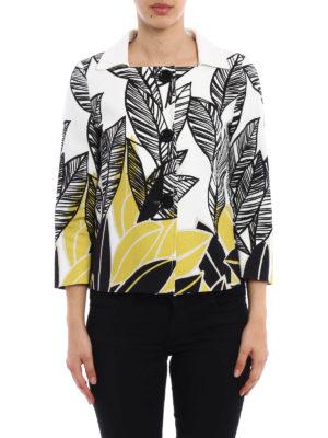 Herno: casual jackets online - Leaf print cotton jacket
