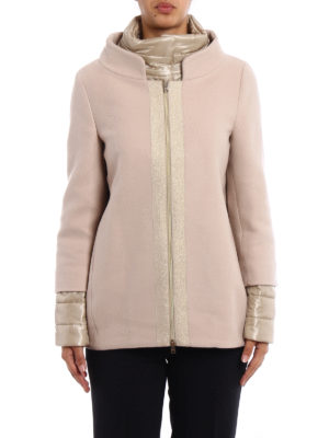 Herno: casual jackets online - Light pink wool double front jacket