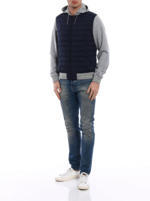 Herno: casual jackets online - Padded body cotton hoodie