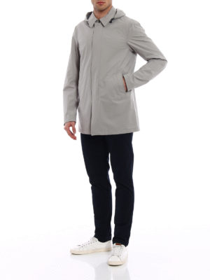 Herno: casual jackets online - Stretch nylon long jacket