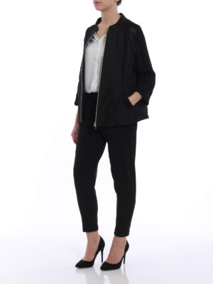 Herno: casual jackets online - Tech taffeta and lurex black jacket