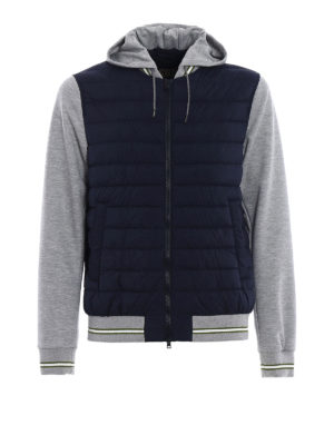 Herno: casual jackets - Padded body cotton hoodie