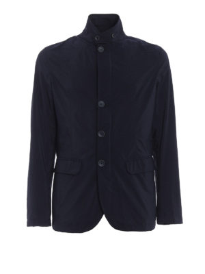 Herno: casual jackets - Shimmering technical fabric jacket