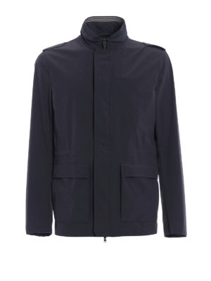 Herno: casual jackets - Stretch nylon light blue jacket