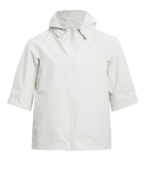 Herno: casual jackets - Technical fabric A-line jacket