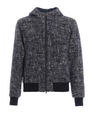 HERNO: giacche casual - Giubbotto double in tweed con cappuccio