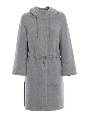 HERNO: cappotti al ginocchio - Cappotto in tessuto double di cashmere grigio