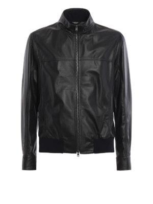 Herno: leather jacket - Light soft leather jacket