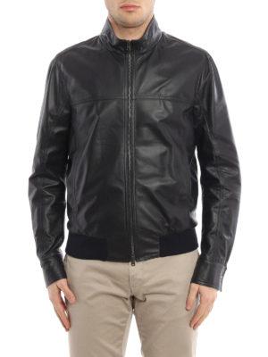Herno: leather jacket online - Light soft leather jacket