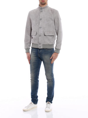 Herno: leather jacket online - Soft suede jacket