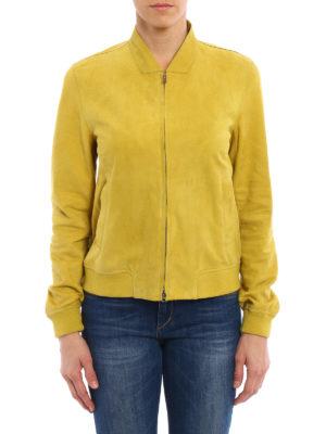 Herno: leather jacket online - Suede bomber jacket