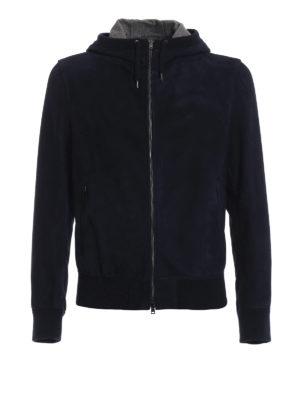 HERNO: giacche in pelle - Giacca in nabuk con interno seta e cashmere