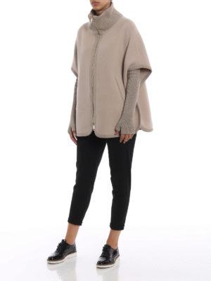 HERNO: Mantelle e poncho online - Cappa in panno di lana misto cashmere