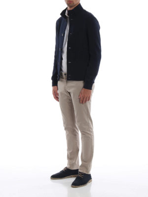 HERNO: giacche casual online - Giacca casual in lana cotta blu