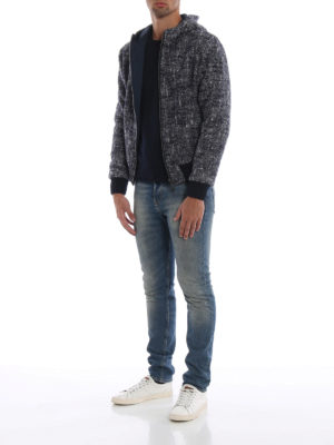 HERNO: giacche casual online - Giubbotto double in tweed con cappuccio