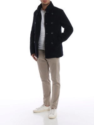 HERNO: giacche casual online - Giacca cardigan in lana e nylon