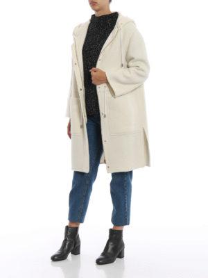 HERNO: cappotti al ginocchio online - Cappotto in tessuto double di cashmere