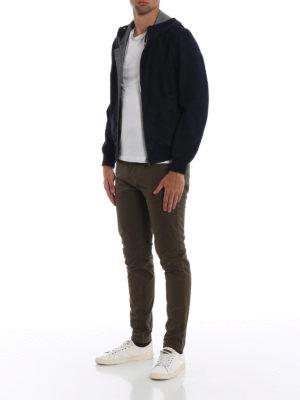 HERNO: giacche in pelle online - Giacca in nabuk con interno seta e cashmere