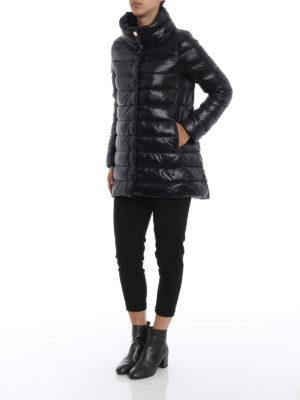 HERNO: cappotti imbottiti online - Piumino Amelia ultraleggero nero