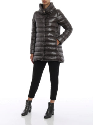 HERNO: cappotti imbottiti online - Piumino Amelia ultraleggero grigio