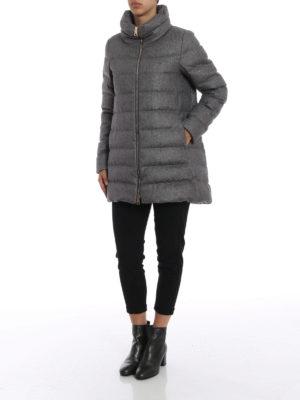 HERNO: cappotti imbottiti online - Piumino in cashmere e seta antigoccia