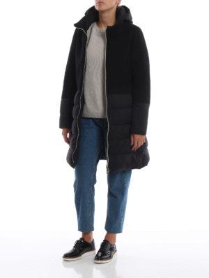 HERNO: cappotti imbottiti online - Cappotto nero Revival in lana e nylon