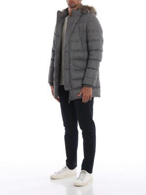 HERNO: cappotti imbottiti online - Piumino in cashmere seta con cappuccio