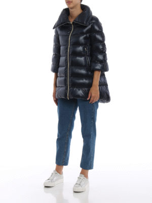 HERNO: cappotti imbottiti online - Piumino Cleofe in nylon blu