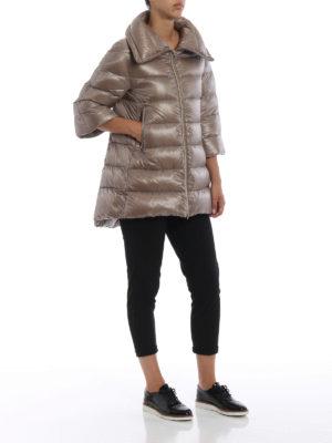 HERNO: cappotti imbottiti online - Piumino Cleofe in nylon tortora chiaro