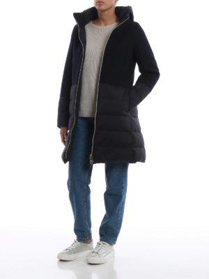 HERNO: cappotti imbottiti online - Cappotto blu scuro Revival in lana e nylon
