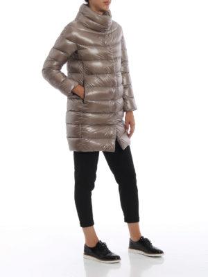HERNO: cappotti imbottiti online - Piumino Dora ultraleggero tortora chiaro