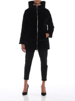 HERNO: cappotti imbottiti online - Piumino in velluto con collo a cratere