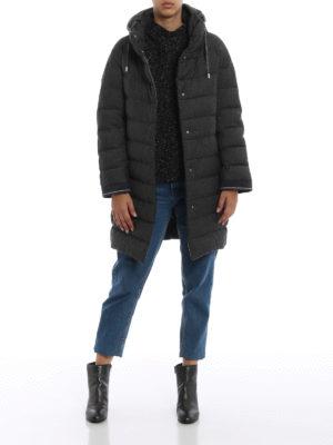 HERNO: cappotti imbottiti online - Piumino in tessuto lurex grigio trapuntato