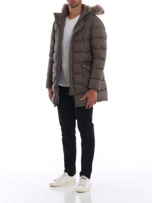 HERNO: cappotti imbottiti online - Piumino Il Parka tortora