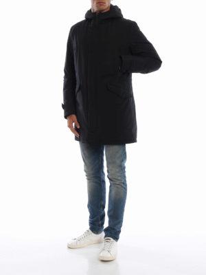 HERNO: cappotti imbottiti online - Parka Laminar imbottito in Gore-tex® nero
