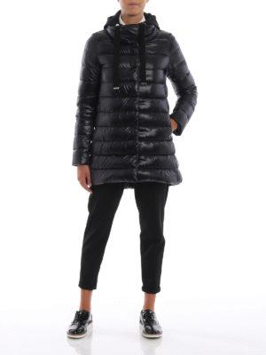 HERNO: cappotti imbottiti online - Piumino con pettorina e cappuccio in jersey
