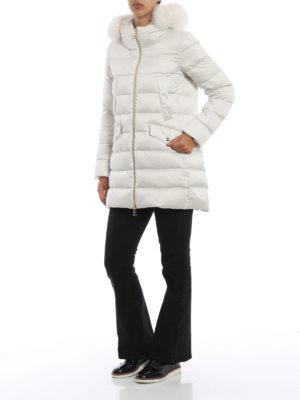 HERNO: cappotti imbottiti online - Piumino in tessuto tecnico naturale con volpe