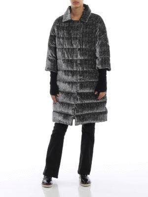 HERNO: cappotti imbottiti online - Piumino in velluto di misto seta zebrato