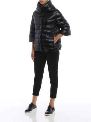 HERNO: giacche imbottite online - Piumino Aminta in nylon nero