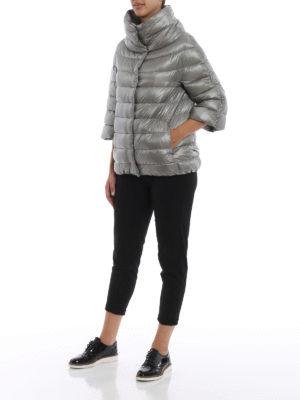 HERNO: giacche imbottite online - Piumino Aminta in nylon grigio chiaro