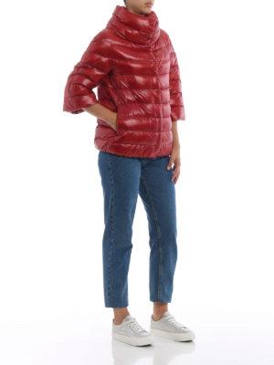 HERNO: giacche imbottite online - Piumino Aminta in nylon rosso