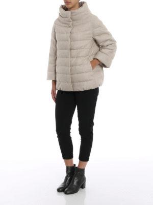 HERNO: giacche imbottite online - Piumino cashmere e seta antigoccia