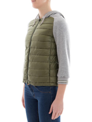 HERNO: giacche imbottite online - Piumino con maniche in cotone