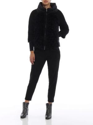 HERNO: giacche imbottite online - Piumino con piume e maniche di lana