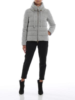 HERNO: giacche imbottite online - Piumino corto Glow in jersey di misto lana
