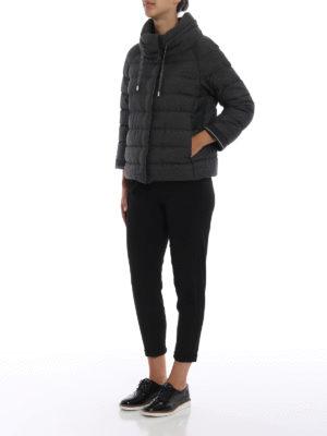 HERNO: giacche imbottite online - Piumino in tessuto lurex grigio