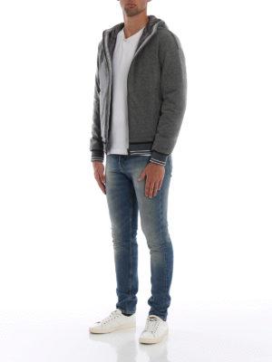HERNO: giacche imbottite online - Piumino in lana cotta con dettagli Gym Knit